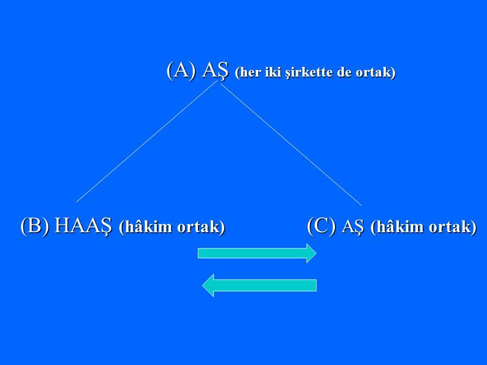(A) AŞ (her iki şirkette de ortak) (B) HAAŞ (hâkim ortak) (C) AŞ (hâkim ortak)