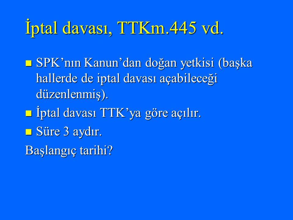 İptal davası, TTKm.445 vd.