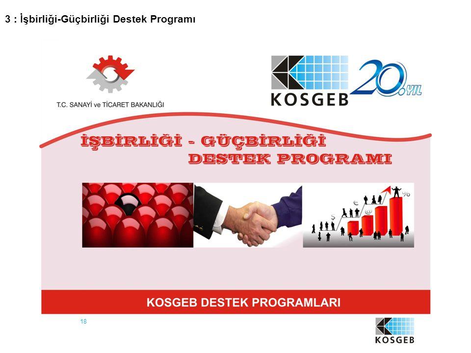 18 3 : İşbirliği-Güçbirliği Destek Programı