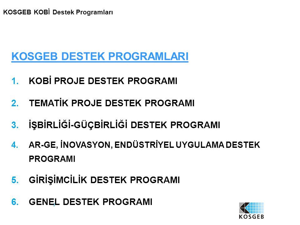 34 Programın Kapsamı Girişimcilik Destek Programı 3 alt programdan oluşur: Uygulamalı Girişimcilik Eğitimi Yeni Girişimci Desteği İş Geliştirme Merkezi (İŞGEM) Desteği 5 : Girişimcilik Destek Programı