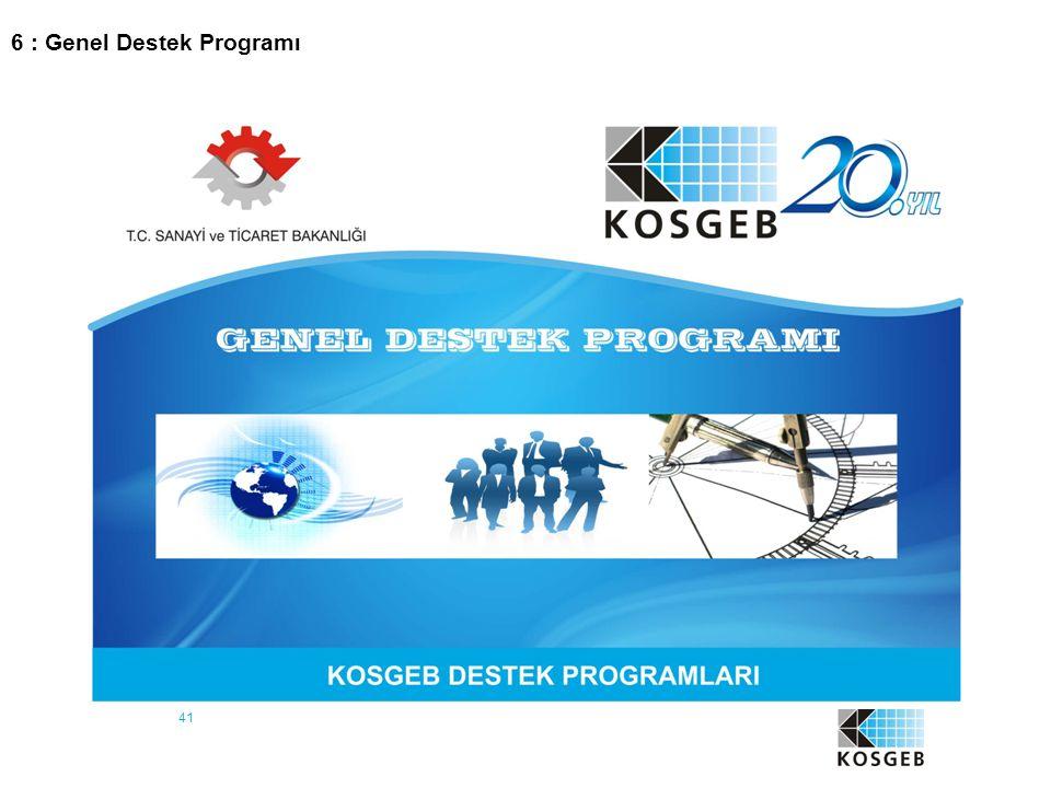 41 6 : Genel Destek Programı
