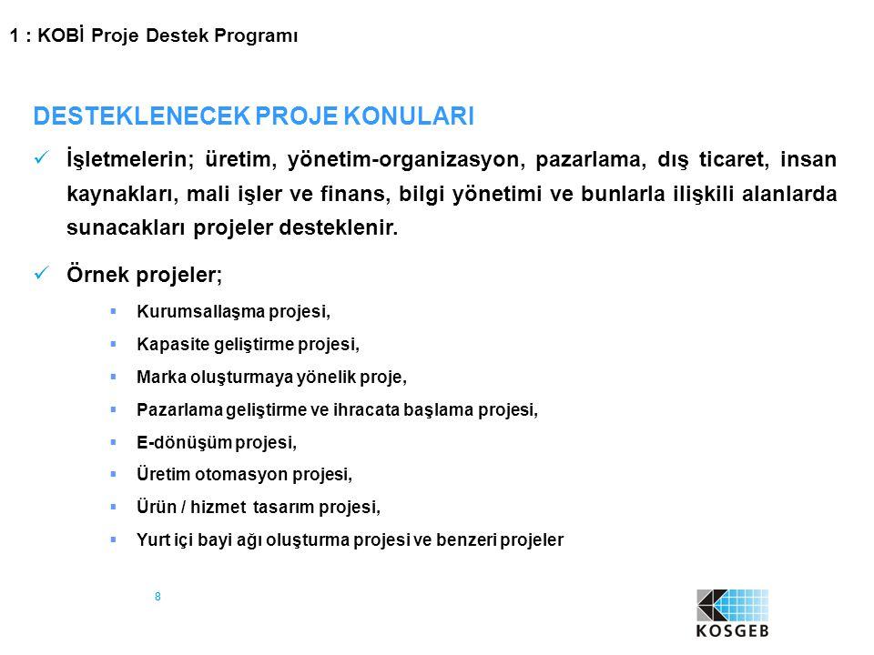 39 DESTEK UNSURU ÜST LİMİT (TL) DESTEK ORANI (%) (1.