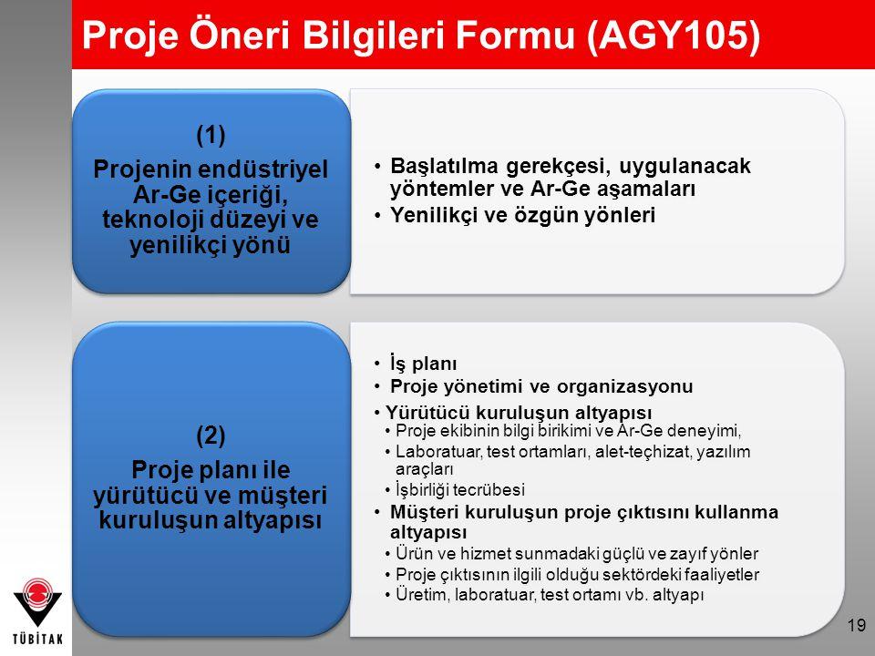 19 Başlatılma gerekçesi, uygulanacak yöntemler ve Ar-Ge aşamaları Yenilikçi ve özgün yönleri (1) Projenin endüstriyel Ar-Ge içeriği, teknoloji düzeyi