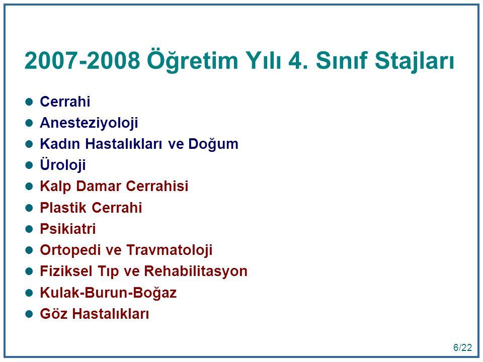 6 6/22 2007-2008 Öğretim Yılı 4.