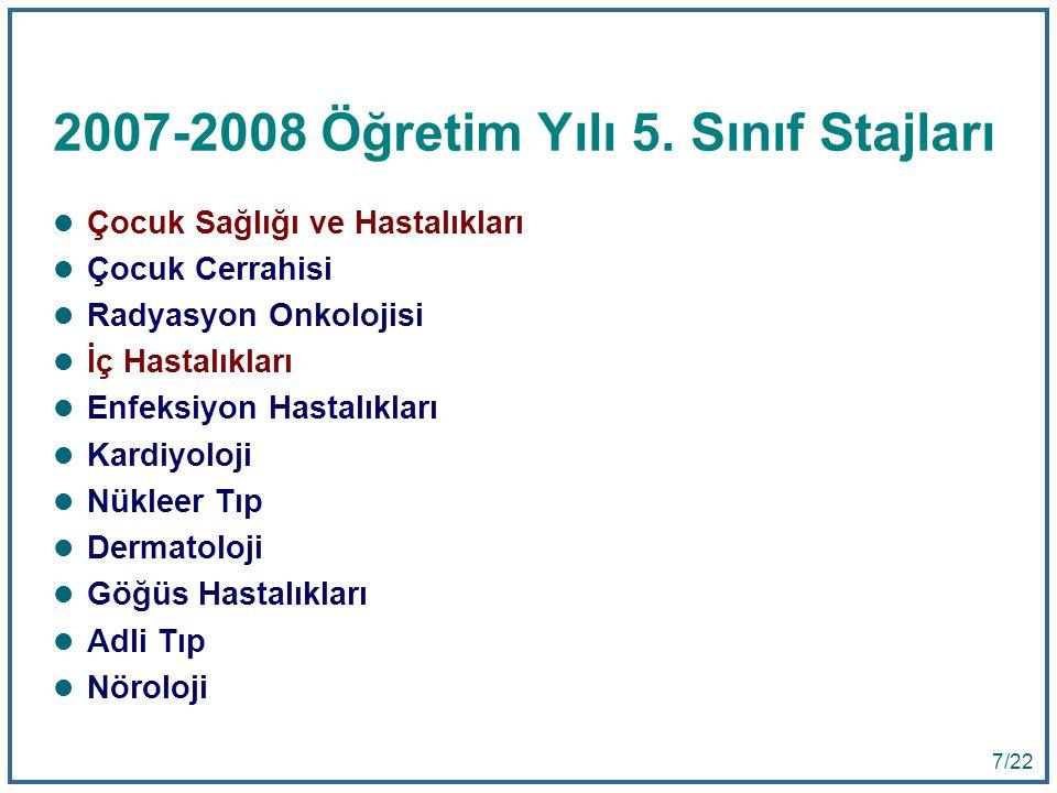 7 7/22 2007-2008 Öğretim Yılı 5.