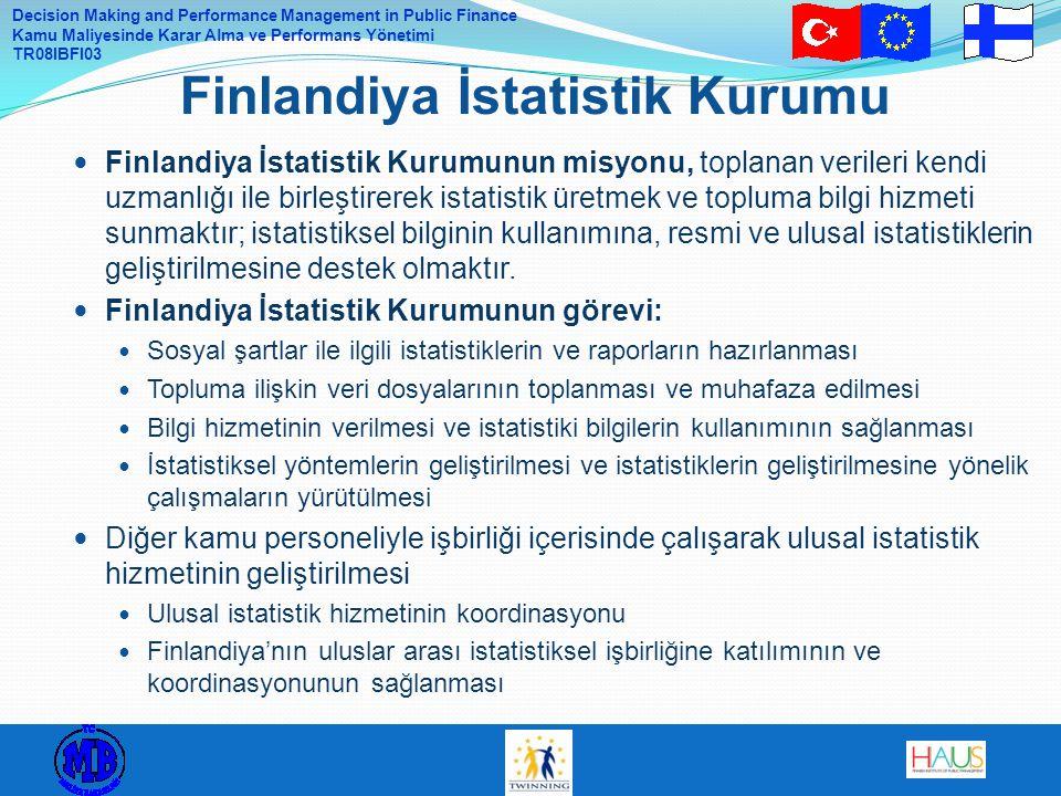 Decision Making and Performance Management in Public Finance Kamu Maliyesinde Karar Alma ve Performans Yönetimi TR08IBFI03 Finlandiya İstatistik Kurum