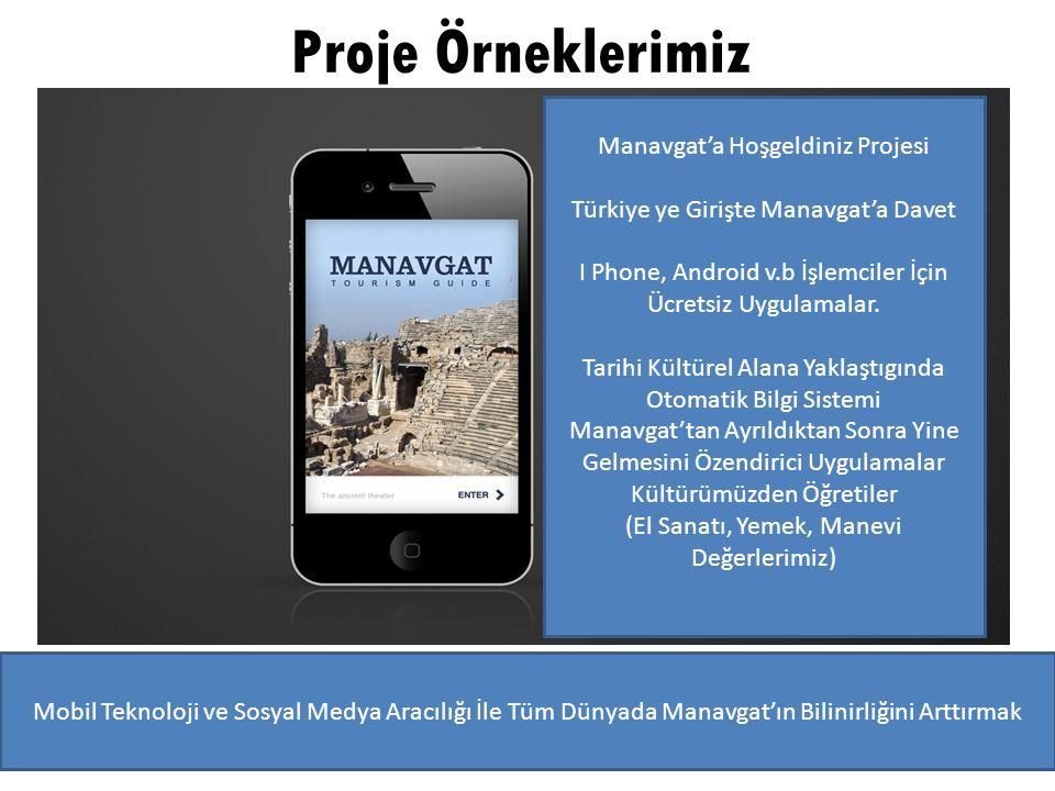 Proje Örneklerimiz Manavgat'a Hoşgeldiniz Projesi Türkiye ye Girişte Manavgat'a Davet I Phone, Android v.b İşlemciler İçin Ücretsiz Uygulamalar. Tarih