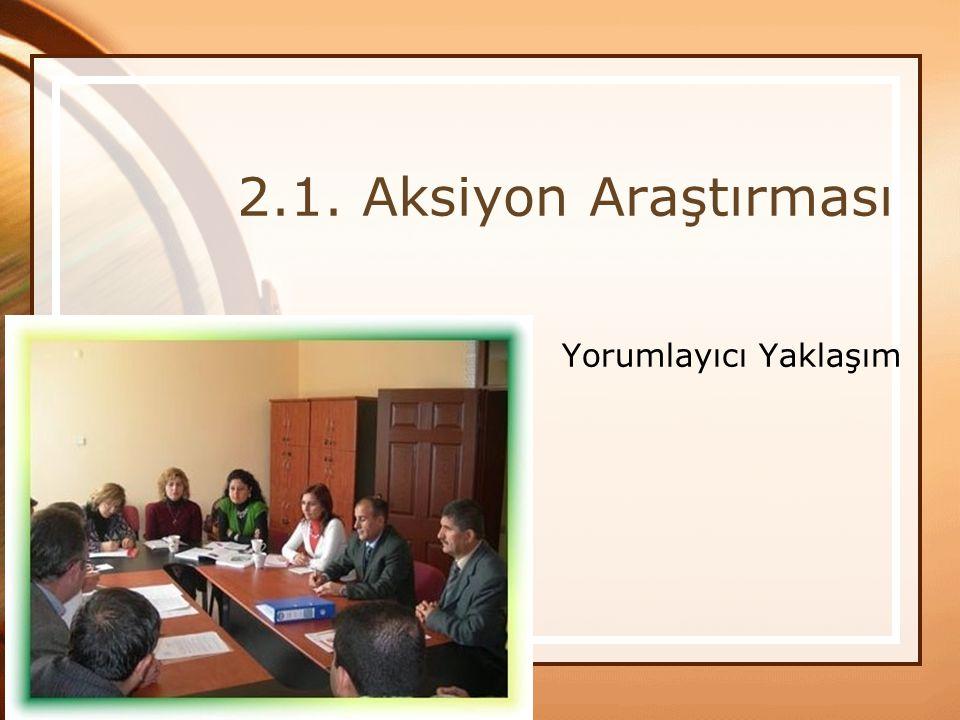 2.1. Aksiyon Araştırması Yorumlayıcı Yaklaşım