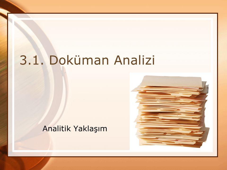 3.1. Doküman Analizi Analitik Yaklaşım