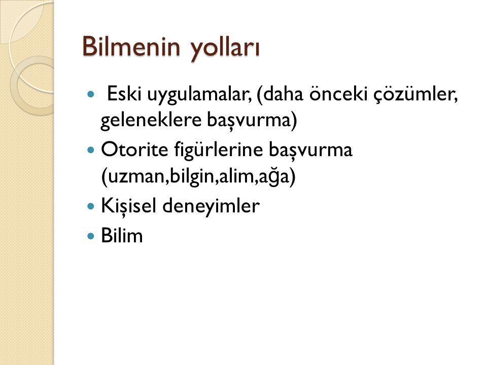Prof. Dr. Mustafa ERGÜN24 Kuhn'a göre bilimin işleyişi şu şekilde gerçekleşmektedir: