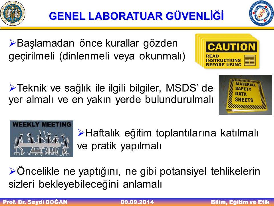 Prof.Dr. Seydi DOĞAN Bilim, Eğitim ve Etik 09.09.2014 TEST 18.