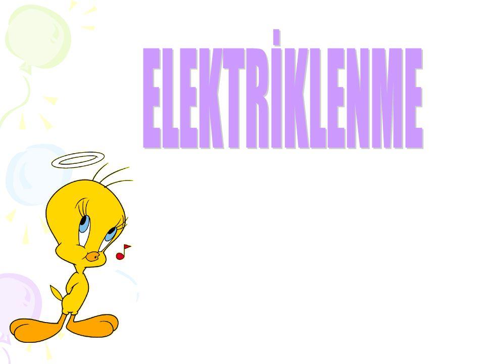 Etkinliğimizde gözlemlediğimiz bu itme ve çekme şeklindeki etkileşimler elektriklenme adı verilen bir olayın sonucudur.