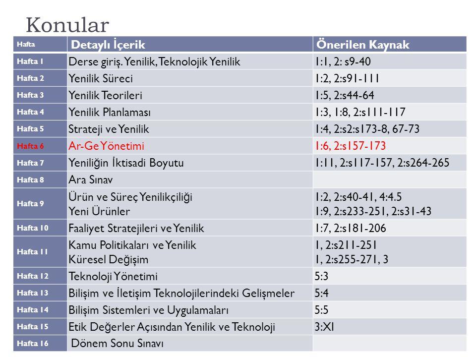 Özet İçerik: Ar-Ge Yönetimi Aksaray Üniv., İ şletme Bölümü, YNT/Z 5143  Yenili ğ in kaynakları, Ar-Ge ve yönetim ilişkisi  Yenili ğ i destekleyen başarılı bir Ar-Ge için yönetim nasıl olmalıdır?