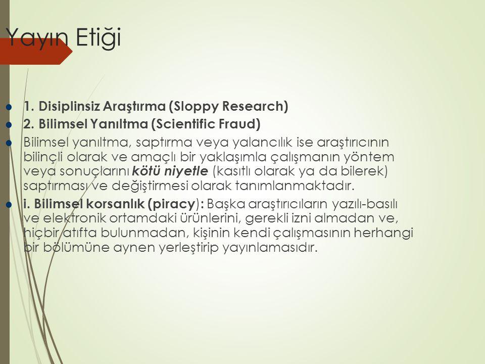 Yayın Etiği ii.