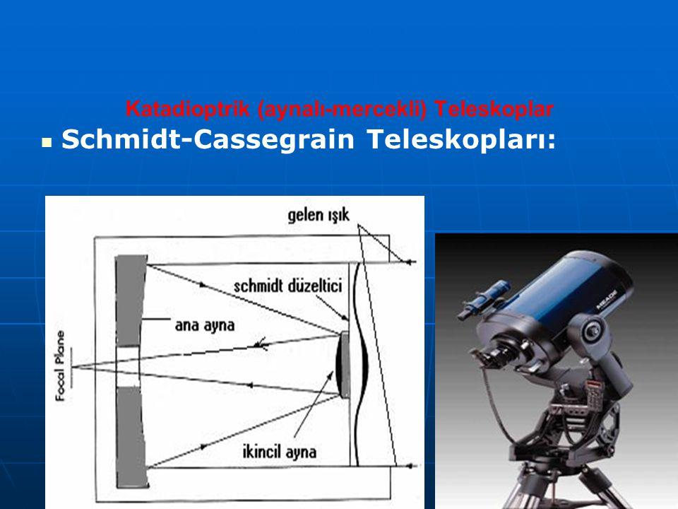 Katadioptrik (aynalı-mercekli) Teleskoplar Schmidt-Cassegrain Teleskopları: