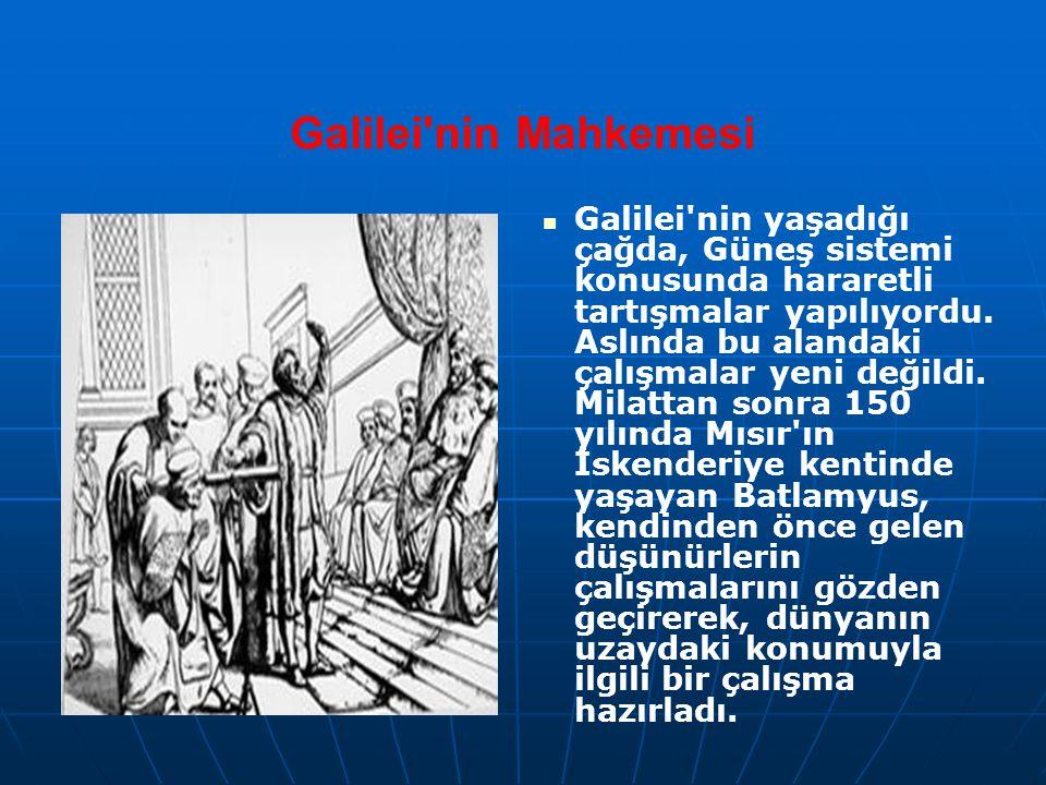 Galilei'nin Mahkemesi Galilei'nin yaşadığı çağda, Güneş sistemi konusunda hararetli tartışmalar yapılıyordu. Aslında bu alandaki çalışmalar yeni değil
