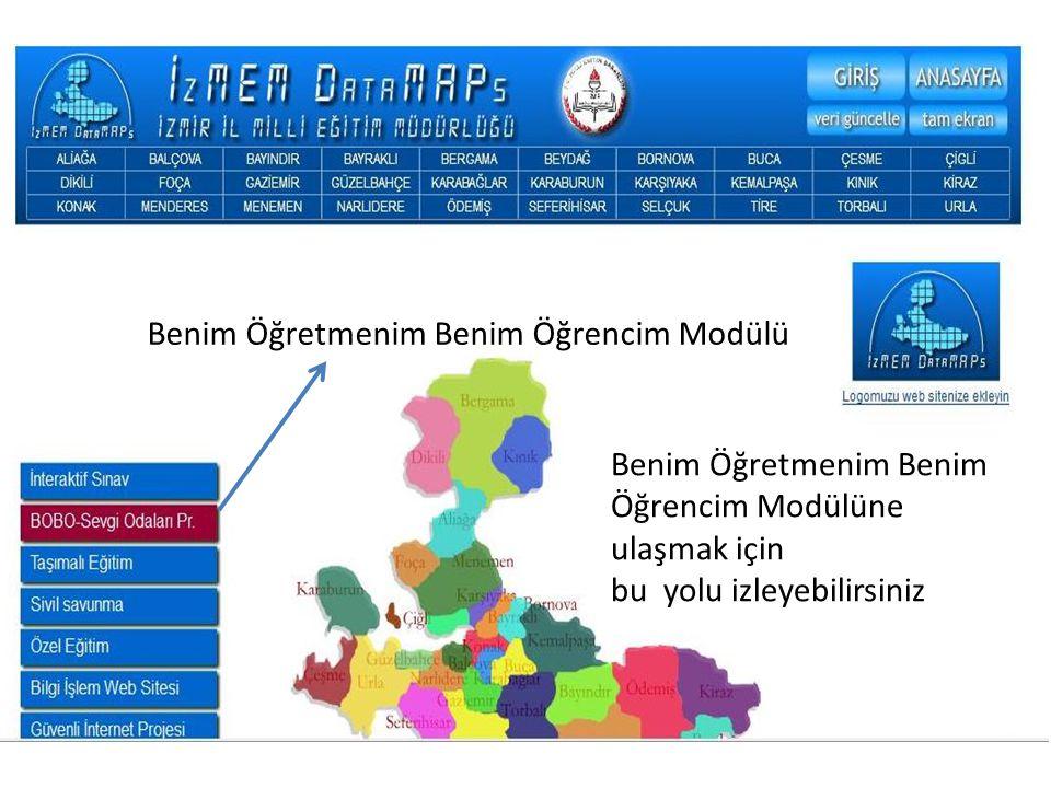 Adres satırına; http://www.izmirmembis.com/ yazıp bu yolu da izleyebilirsiniz Sistemin amacı BOBO projesi verilerinin sağlıklı biçimde toplanmasını sağlamak.