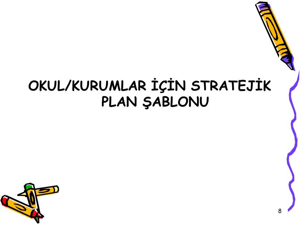 58 Örnek; Okul/Kurum İçin Stratejik Amaç İfadeleri Stratejik Amaç 1.