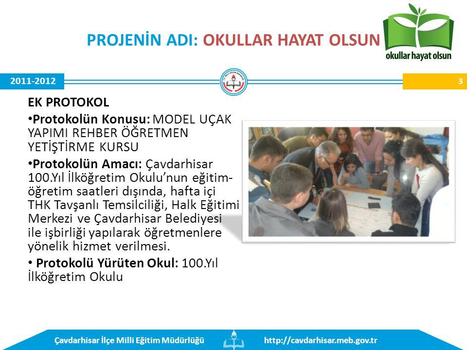 http://cavdarhisar.meb.gov.trÇavdarhisar İlçe Milli Eğitim Müdürlüğü 2011-2012 100. Yıl İlkokulu 34