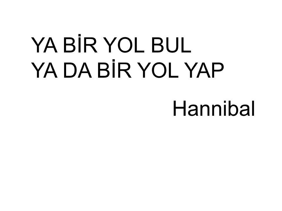 YA BİR YOL BUL YA DA BİR YOL YAP Hannibal