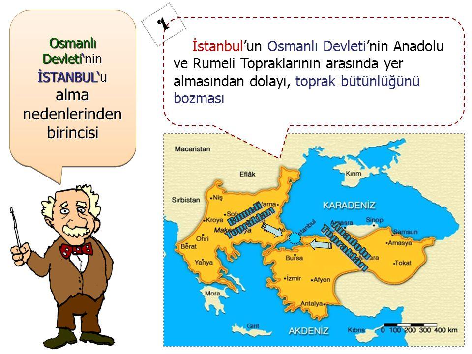 ; Şimdi ; İstanbul 'un Fethi'nin TÜRK TARİHİ açısından SONUÇLARI'na bakalım ; Şimdi ; İstanbul 'un Fethi'nin TÜRK TARİHİ açısından SONUÇLARI'na bakalım Anadolu ve Rumeli Toprakları arasındaki TOPRAK BÜTÜNLÜĞÜ sağlandı… Osmanlı Devleti'nde Başkent, EDİRNE'den İSTANBUL'a taşındı… Osmanlı Devleti, KURULUŞ DÖNEMİ'ni tamamlayıp, YÜKSELME DÖNEMİ'ne girdi… İstanbul'un Fethi ile ilgili Sevgili Peygamberimiz Hz.Muhammed (SAV) 'in hadisinden dolayı, Osmanlı Devleti'nin İslam Dünyası'ndaki itibari arttı… Karadeniz Ticaret Yolu, Boğazların Osmanların denetimine girmesinden dolayı, Osmanlı Egemenliği'ne girdi.