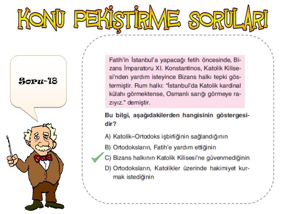 Soru-17 'yı Mora Trabzon