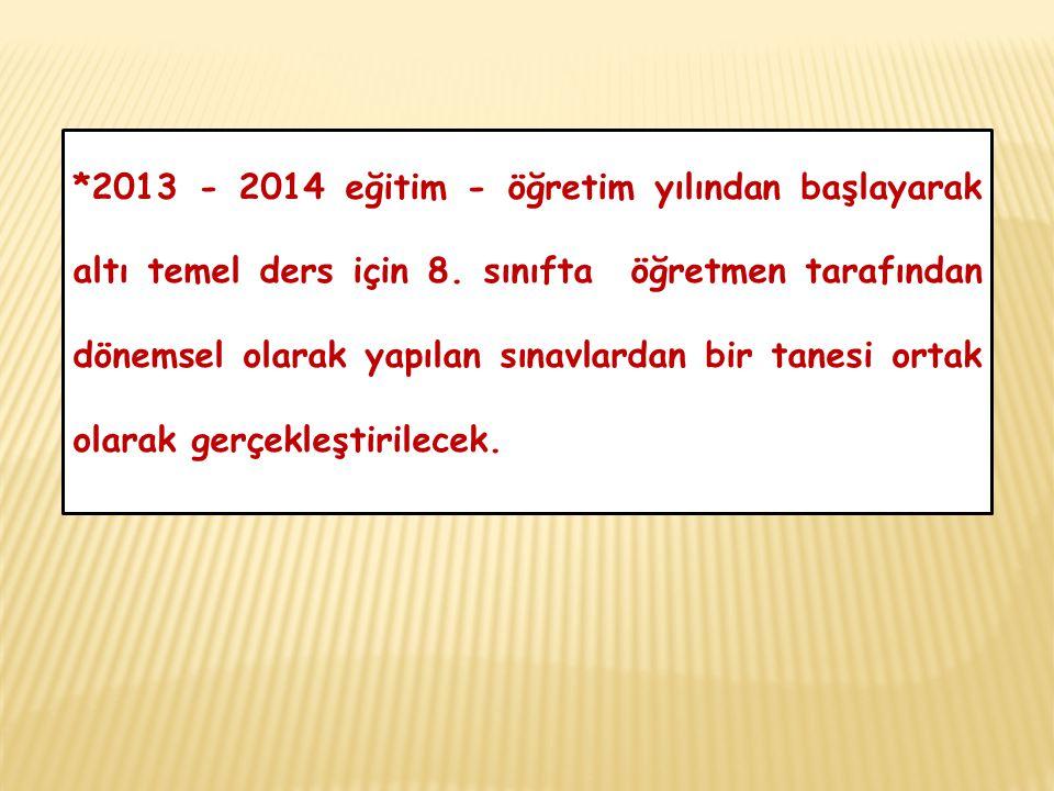 ORTAK DEĞERLENDİRME KAPSAMINDAKİ DERSLER 1.Fen ve Teknoloji 2.