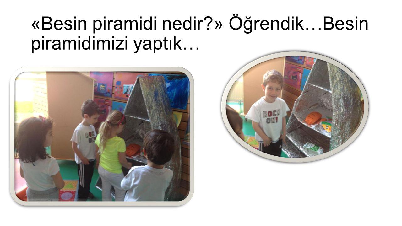 «Besin piramidi nedir?» Öğrendik…Besin piramidimizi yaptık…
