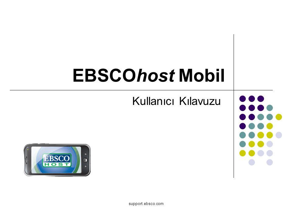 iPhone ve Android bazlı akıllı telefonlar gibi mobil cihazlar için en popüler özellikleri açıklayan EBSCOhost Mobil kullanıcı kılavuzuna hoşgeldiniz.