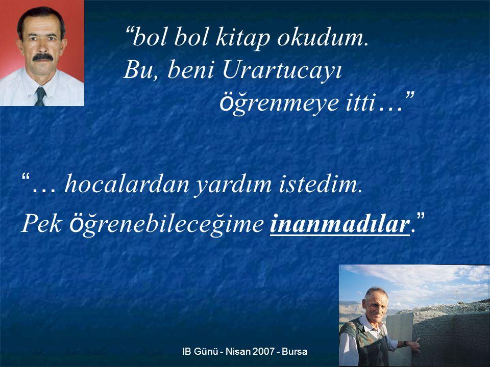 IB Günü - Nisan 2007 - Bursa5 bol bol kitap okudum.