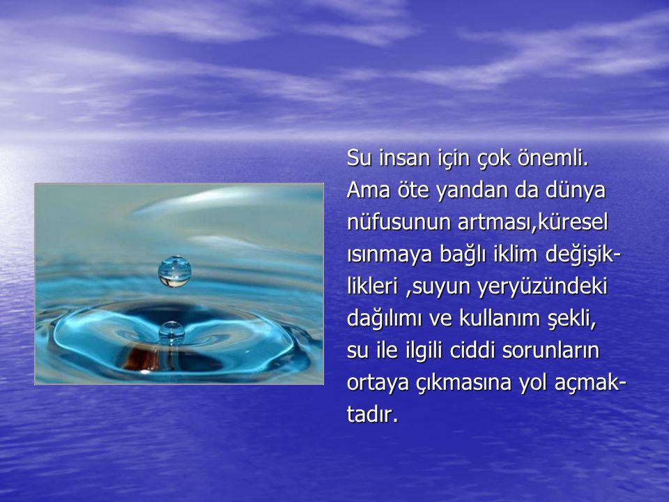 Su insan için çok önemli.
