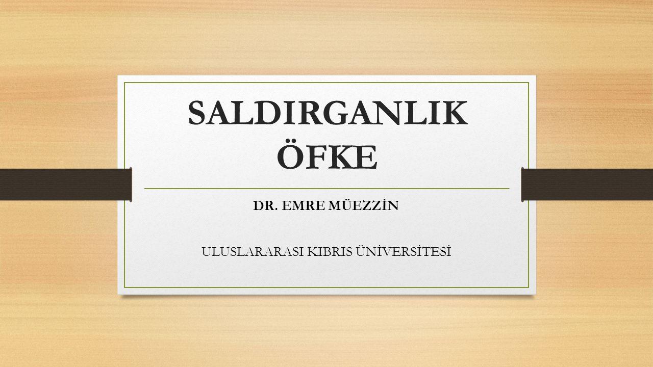 SALDIRGANLIK ÖFKE DR. EMRE MÜEZZİN ULUSLARARASI KIBRIS ÜNİVERSİTESİ