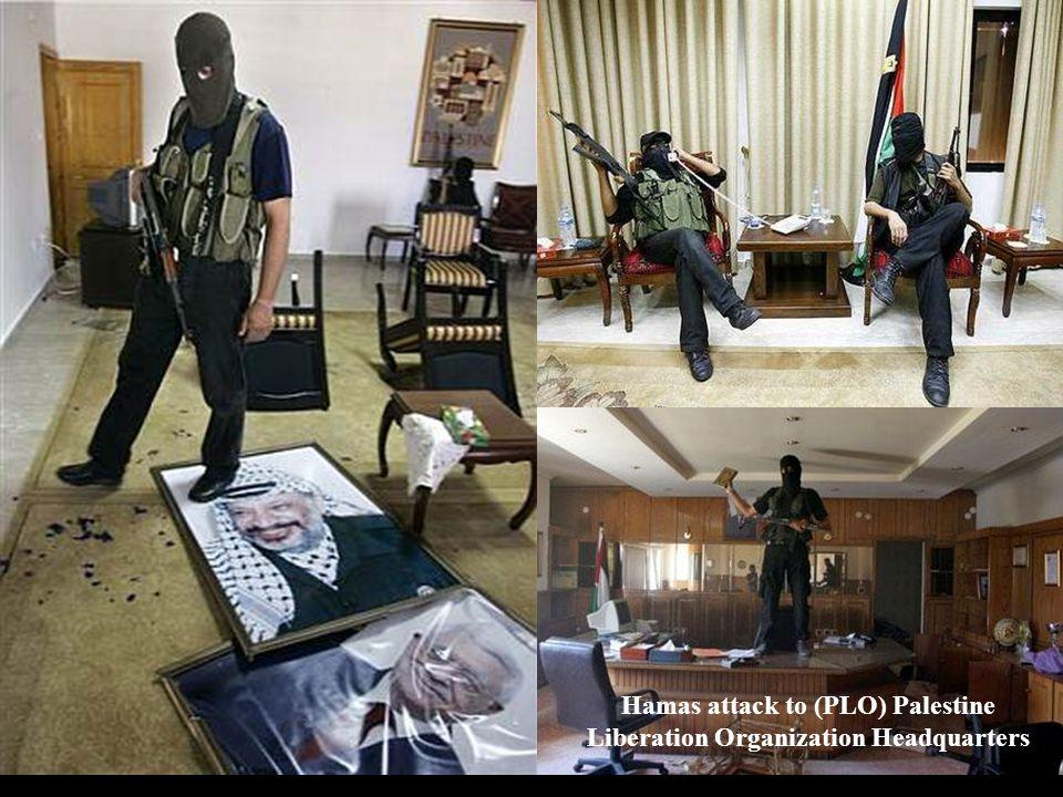 Hamas attack to (PLO) Palestine Liberation Organization Headquarters