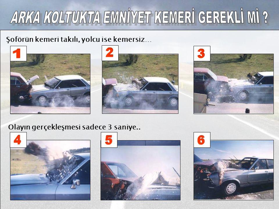 Şoförün kemeri takılı, yolcu ise kemersiz… Olayın gerçekleşmesi sadece 3 saniye..