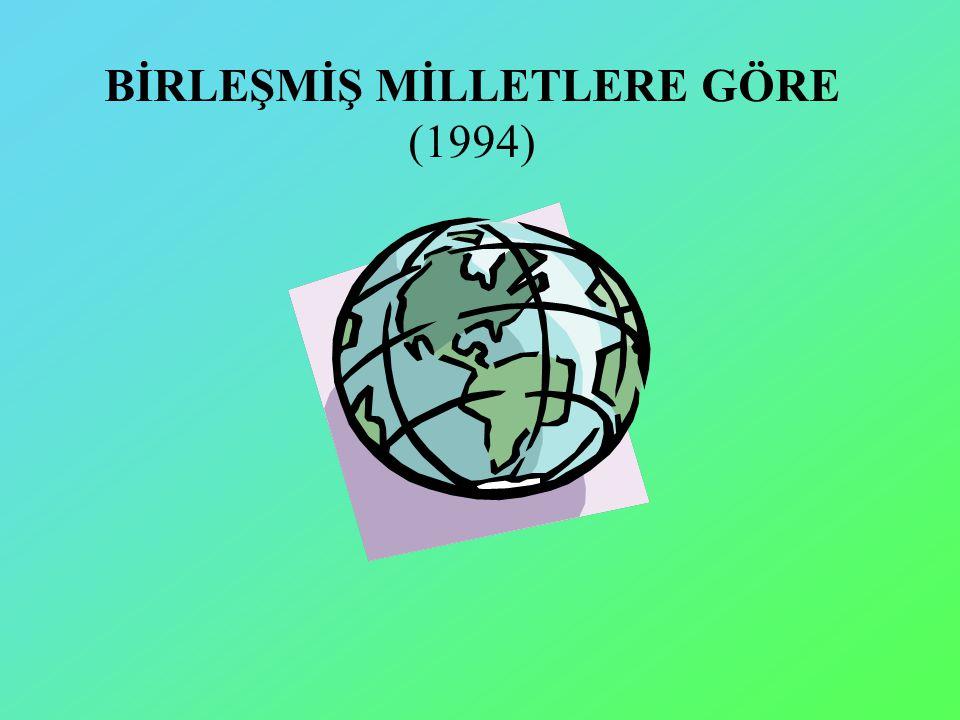BİRLEŞMİŞ MİLLETLERE GÖRE (1994)