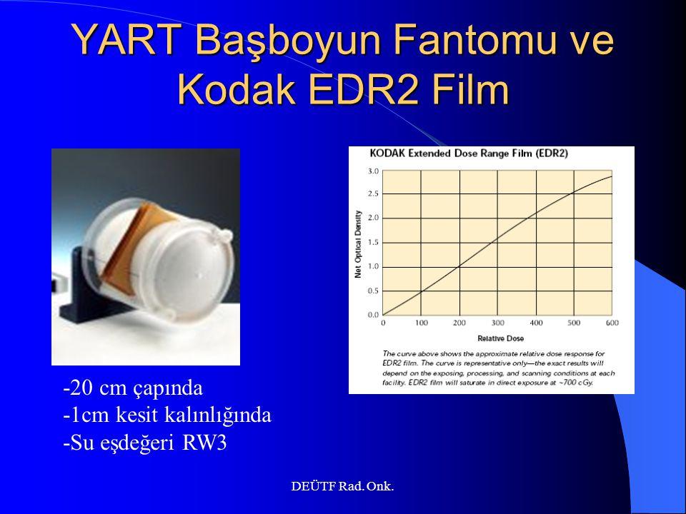 DEÜTF Rad. Onk. YART Başboyun Fantomu ve Kodak EDR2 Film -20 cm çapında -1cm kesit kalınlığında -Su eşdeğeri RW3