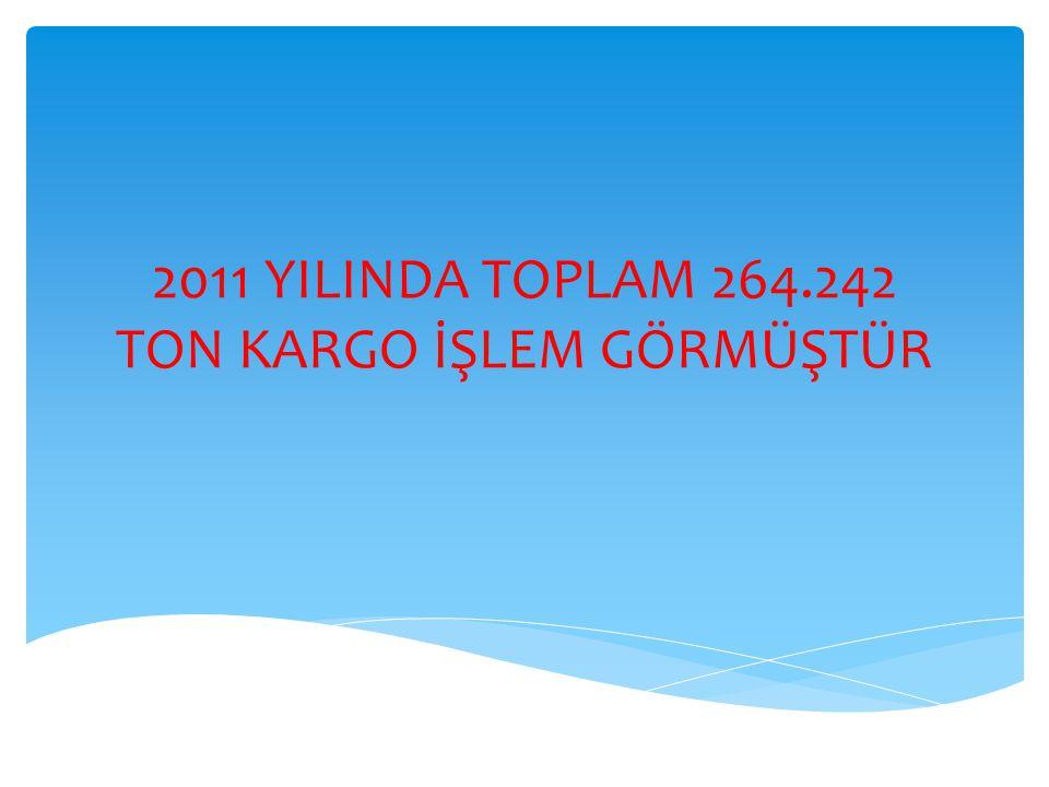 2011 YILINDA TOPLAM 264.242 TON KARGO İŞLEM GÖRMÜŞTÜR