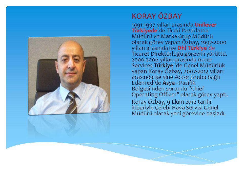KORAY ÖZBAY 1991-1997 yılları arasında Unilever Türkiyede'de Ticari Pazarlama Müdürü ve Marka Grup Müdürü olarak görev yapan Özbay, 1997-2000 yılları