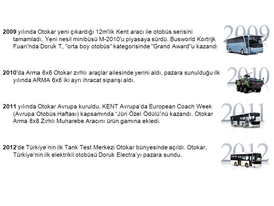 2009 yılında Otokar yeni çıkardığı 12m lik Kent aracı ile otobüs serisini tamamladı.