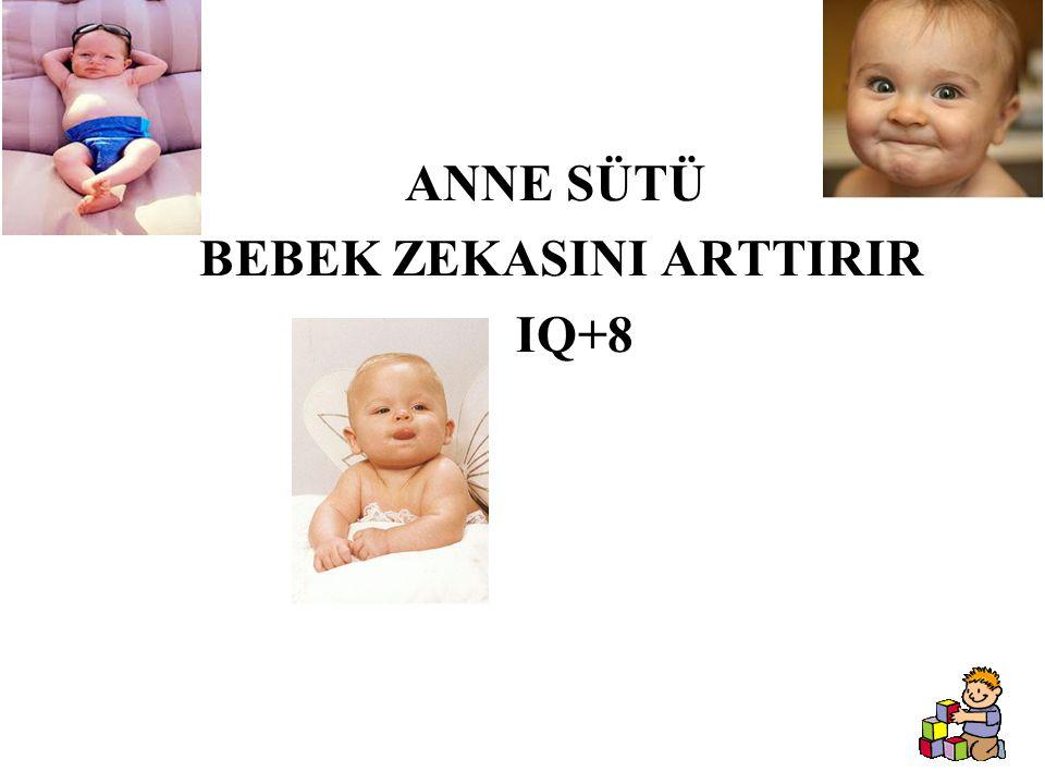 ANNE SÜTÜ BEBEK ZEKASINI ARTTIRIR IQ+8