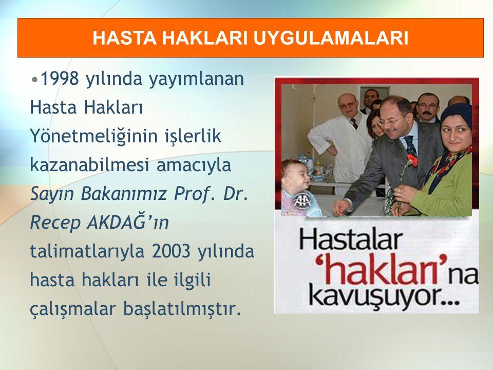 HİZMET İÇİ EĞİTİMLER Sağlık Çalışanlarına Verilen Eğitimler Hekimler, İdareciler, Sağlık çalışanları, Diğer Çalışanlar.