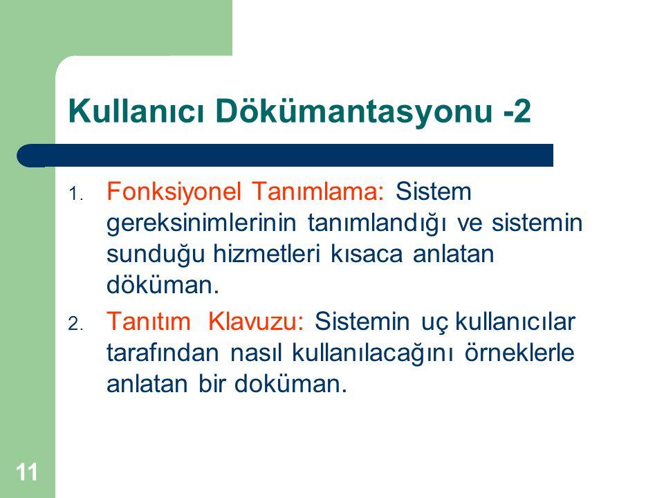 12 Kullanıcı Dökümantasyonu -3 3.