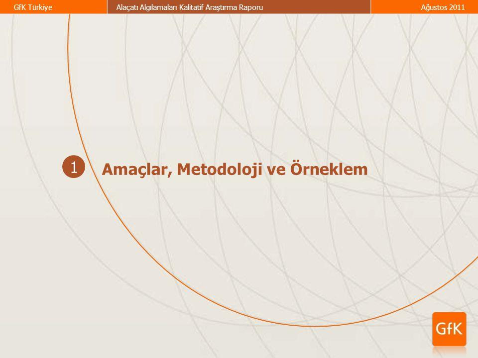 GfK TürkiyeAlaçatı Algılamaları Kalitatif Araştırma RaporuAğustos 2011 1 Amaçlar, Metodoloji ve Örneklem