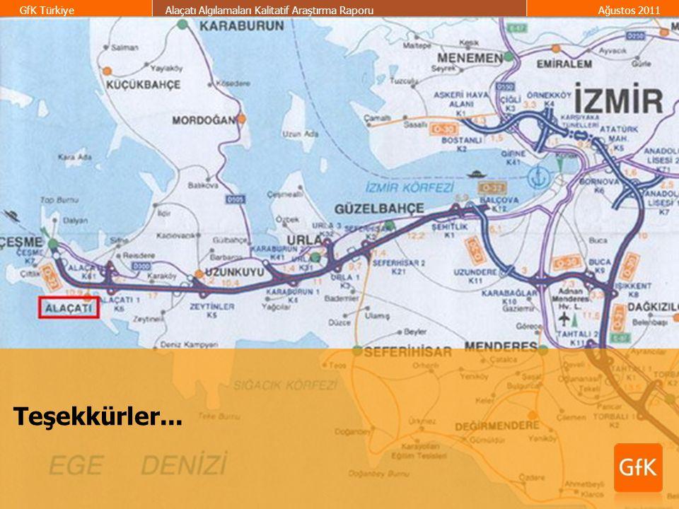 50 GfK TürkiyeAlaçatı Algılamaları Kalitatif Araştırma RaporuAğustos 2011 Teşekkürler...