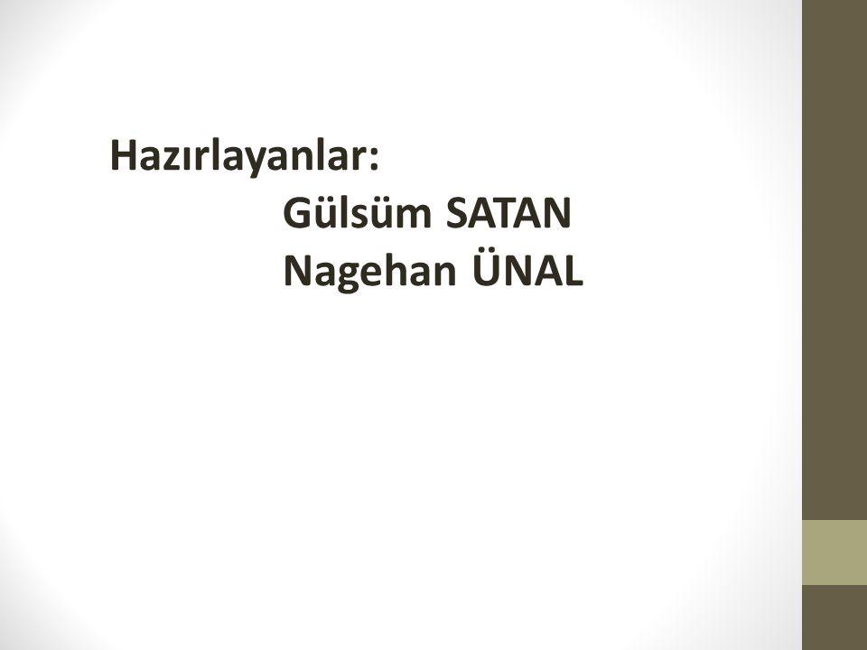 Hazırlayanlar: Gülsüm SATAN Nagehan ÜNAL