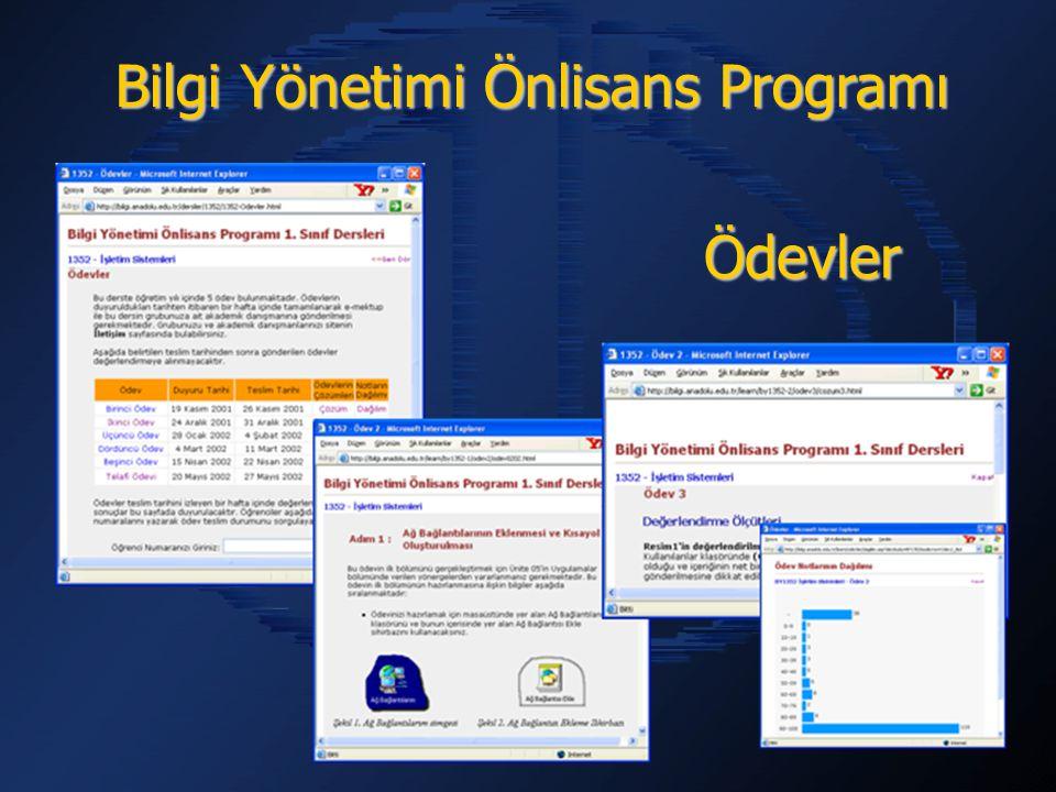 Bilgi Yönetimi Önlisans Programı Ödevler