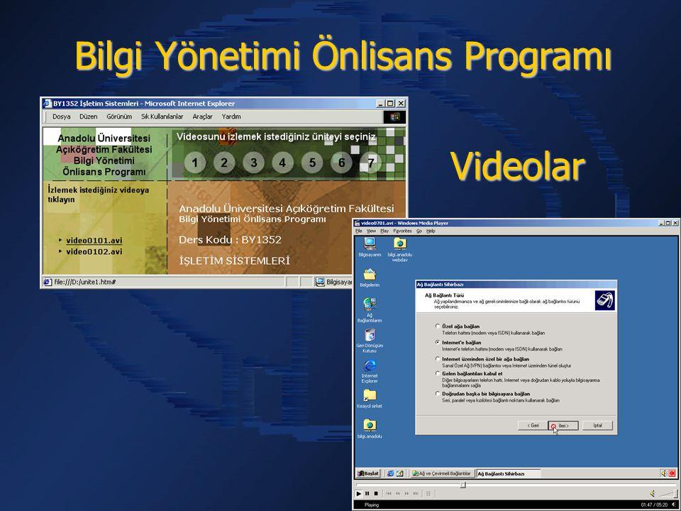 Bilgi Yönetimi Önlisans Programı Videolar