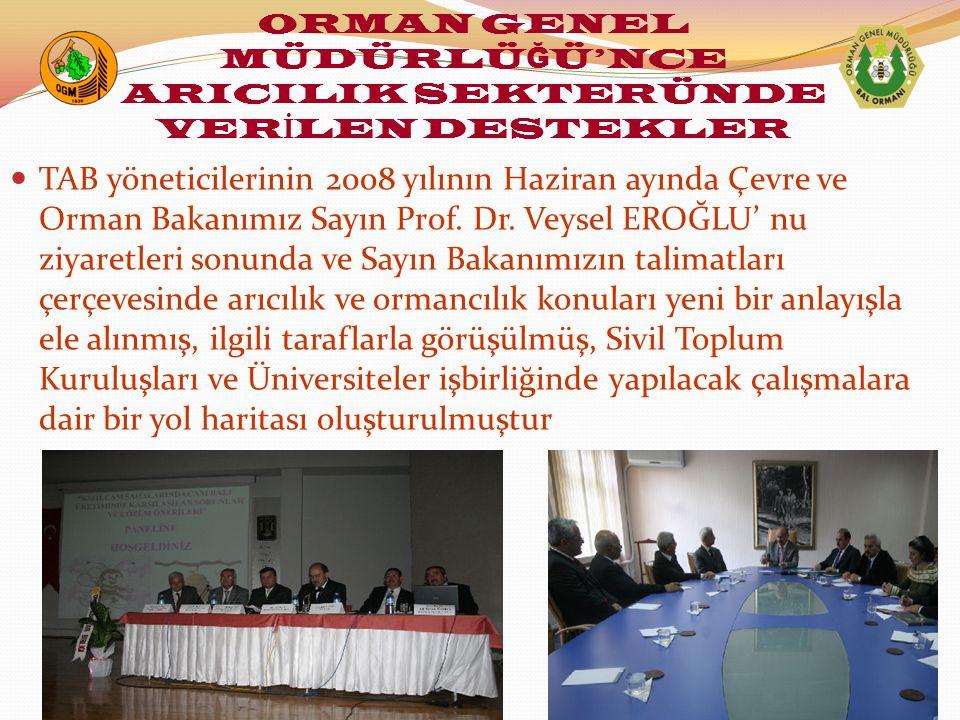 TAB yöneticilerinin 2008 yılının Haziran ayında Çevre ve Orman Bakanımız Sayın Prof.