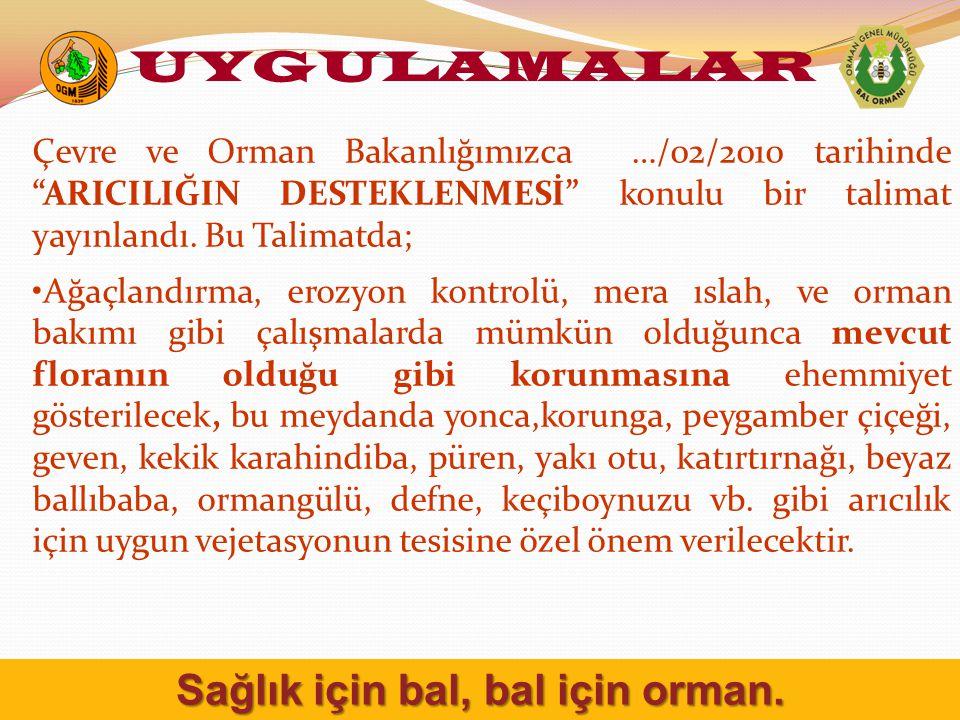 Çevre ve Orman Bakanlığımızca …/02/2010 tarihinde ARICILIĞIN DESTEKLENMESİ konulu bir talimat yayınlandı.