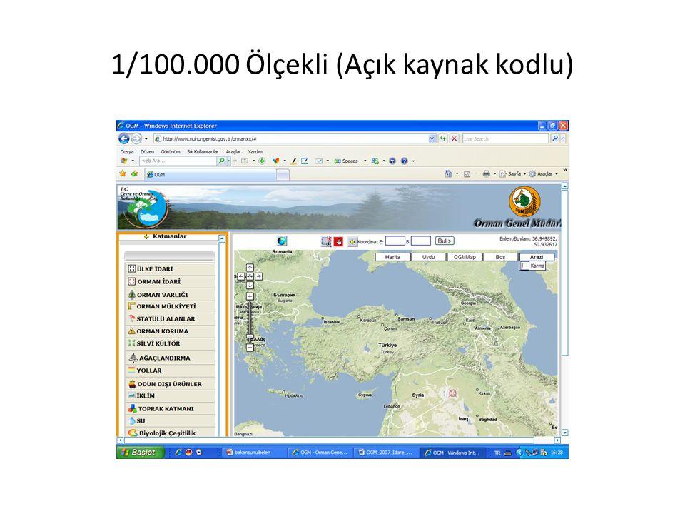 1/100.000 Ölçekli (Açık kaynak kodlu)